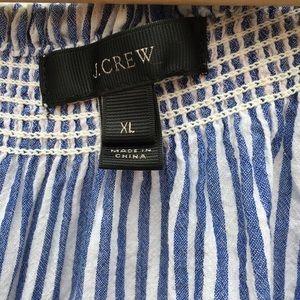 J. Crew Dresses - J. Crew Striped Embroidered Peasant Tunic Dress